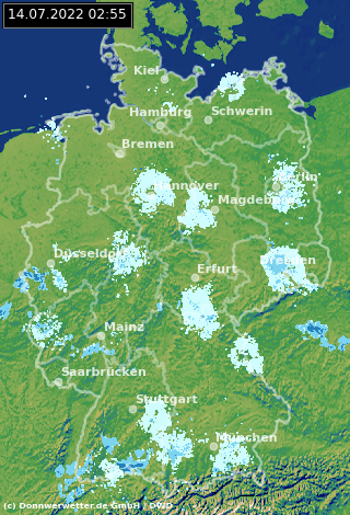 Wetterradar Deutschland Aktuell